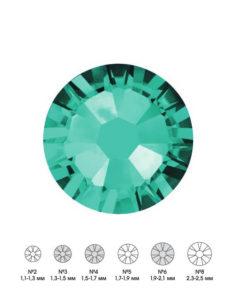 Стразы стеклянные MIX BLUE ZIRCON (бирюзовый) №3 №4 №6 150шт  250руб