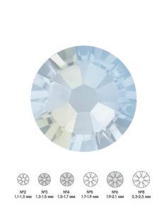 Стразы стеклянные MIX BLUE JADE (дымчато-голубой) №3 №4 №6 150шт 250руб