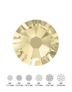 Стразы стеклянные MIX JONQUIL (светло-желтый) №3 №4 №6 150шт 250руб