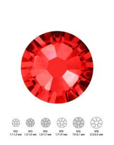 Стразы стеклянные MIX SIAM (красный) №3 №4 №6 150шт  250руб