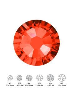 Стразы стеклянные MIX HYACINTH (оранжевый) №3 №4 №6 150шт  250руб
