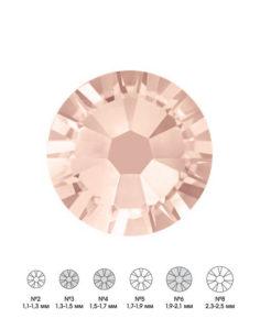 Стразы стеклянные MIX Lt.PEACH (светло-персиковый) №3 №4 №6 150шт 250руб