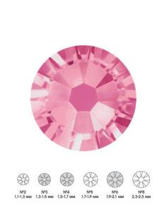 Стразы стеклянные MIX ROSE (розовый) №3 №4 №6 150шт 250руб