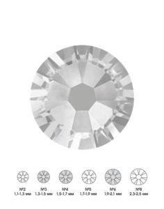 Стразы стеклянные MIX SILVER (серебряный) №3 №4 №6 150шт 250руб