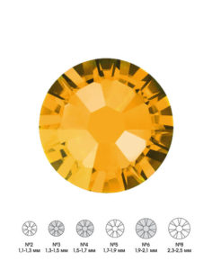 Стразы стеклянные MIX TOPAZ (янтарный) №3 №4 №6 150шт 250руб
