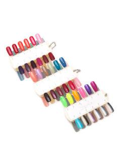 Комплект дисплеев с образцами цветных гелей Smile (72 цвета) 638руб